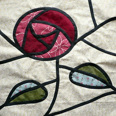 Glasgow Rose Stained Glass Patchwork