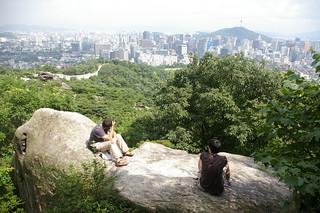 Seoul skyline from Inwangsan
