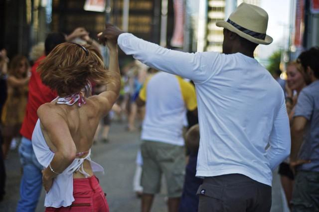 Salsa Dancing on Granville Street