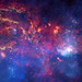 NASA's Great Observatories Examine the Galactic Center Region - The core of the Milky Way at a distance of some 26,000 light years from Earth. by Smithsonian Institution