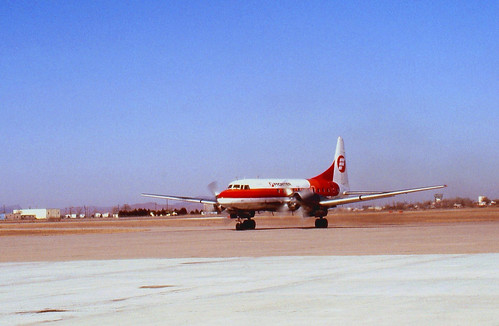 Lawton, Oklahoma Municaipal Airport - Frontier Airlines Convair 580 - January 1981