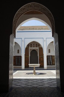 Image of Bahia Palace near Menara.