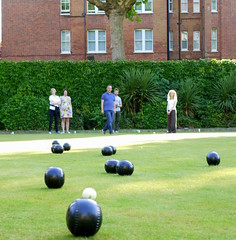 pocket billiards(0.0), sport venue(0.0), baseball field(0.0), golf(0.0), carom billiards(0.0), bowling(0.0), boules(1.0), lawn game(1.0), grass(1.0), individual sports(1.0), sports(1.0), recreation(1.0), outdoor recreation(1.0), ball game(1.0), lawn(1.0), bocce(1.0), ball(1.0),