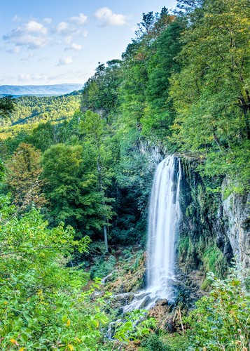 waterfall blurred september blended hdr covington fallingspring 7shot