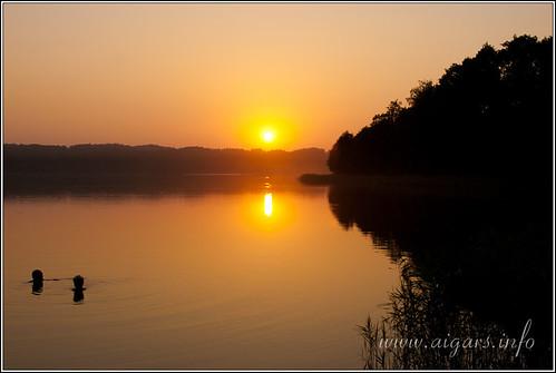 sunset lake water beautiful canon landscape evening latvia lettland platinumheartaward mygearandmepremium aigarsr