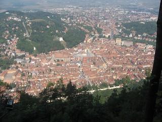 Arial View of Brasov Transylvania Romania