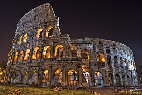 Roman Colosseum - Rome Italy by DiGitALGoLD