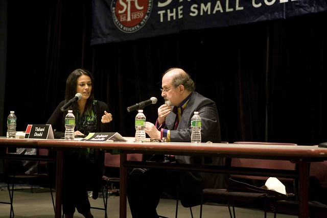 Salman Rushdie Interviewing Tishani Doshi at the Brooklyn Book Festival