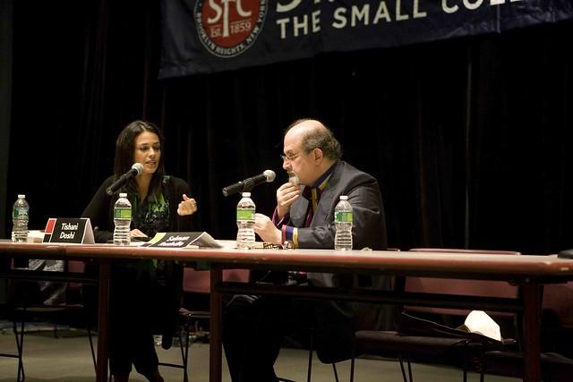 Salman Rushdie Interviewing Tishani Doshi at the Brooklyn Book Festival