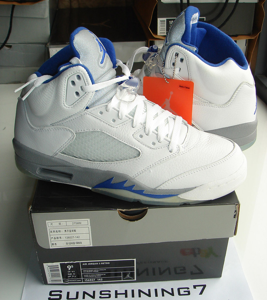 designer fashion 57fce 9be64 ... Sunshining7 - Nike Air Jordan V (5) - Retro 2006 - White Steel