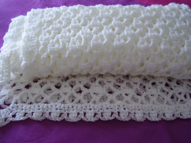Crochet Patterns For Baby Shawls And Blankets : Baby Shawl Crochet White 006 This is the start of my NEW ...
