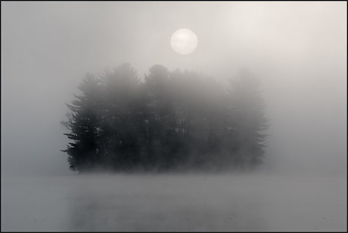 travel sun ontario canada fall nature fog sunrise landscape calm muskoka fairylake aliceisland