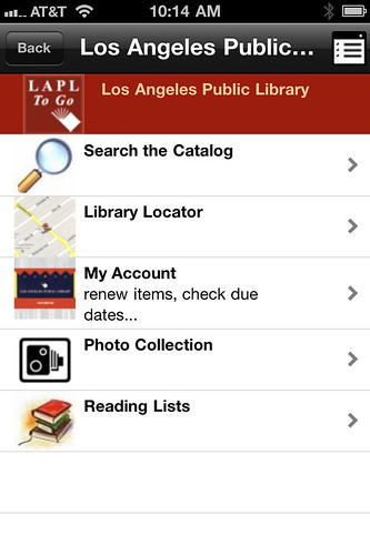 LA Public Library iPhone app
