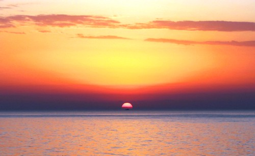 africa morning sea sky sun colour beautiful sunrise early shine view bright tunisia horizon rise sousse sunup 5am nuframe