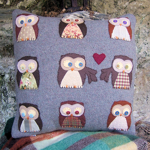 Owls in Love Cushion