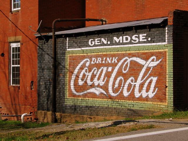 Restored Coca-Cola mural - Adairsville, GA