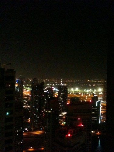 View from 34th floor of JBR