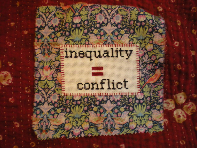 inequality = conflict patch from Flickr via Wylio