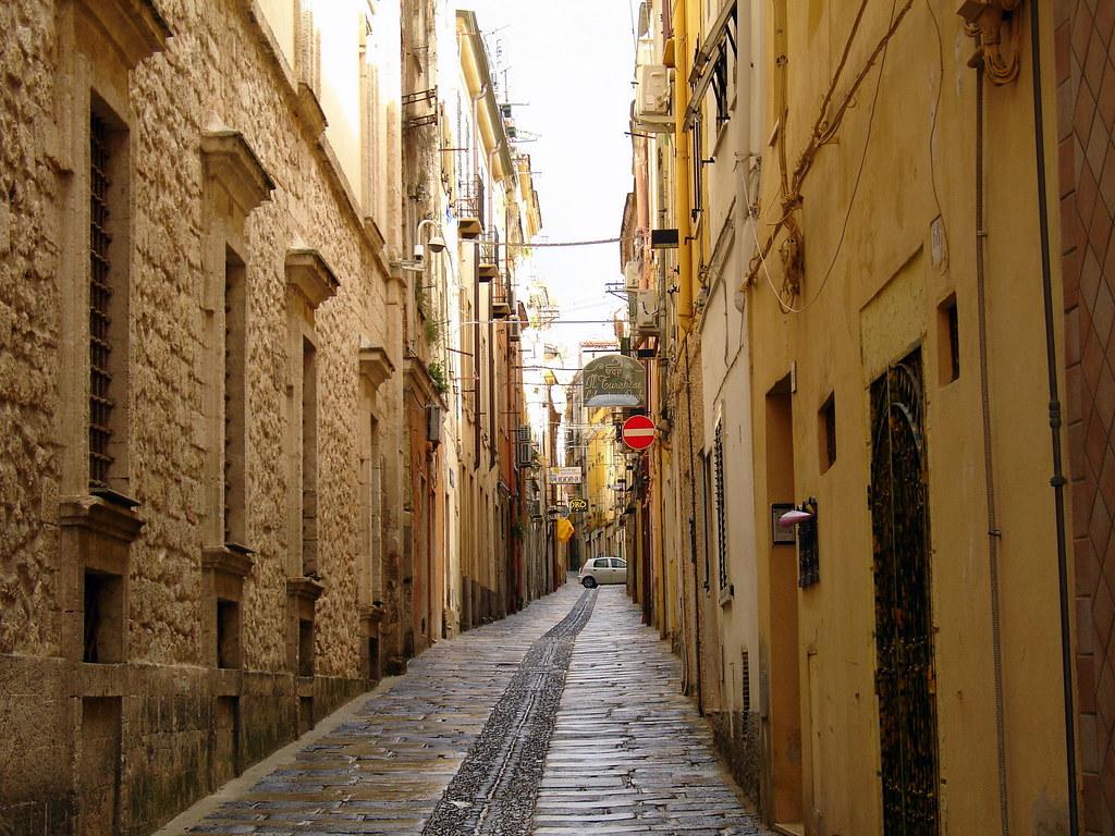 Narrow street in Sassari