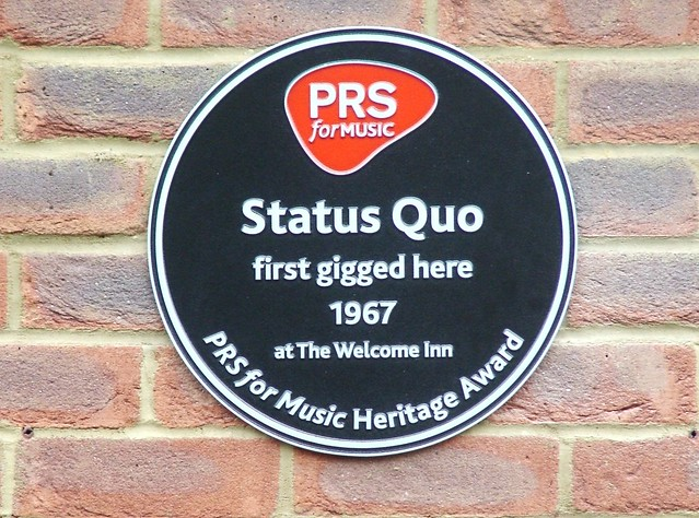 Photo of Status Quo black plaque