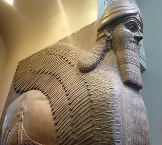 IS  idiots  destroying sculptures like this in Nineveh  /  Colossal statue of a winged lion from the North-West Palace of Ashurnasirpal II