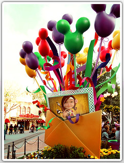 Disney land color balloons