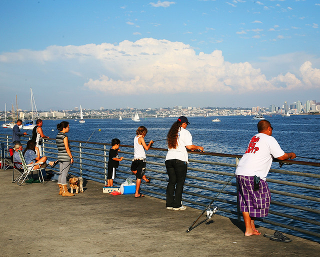 San diego fishing from the pier flickr photo sharing for Fishing in san diego