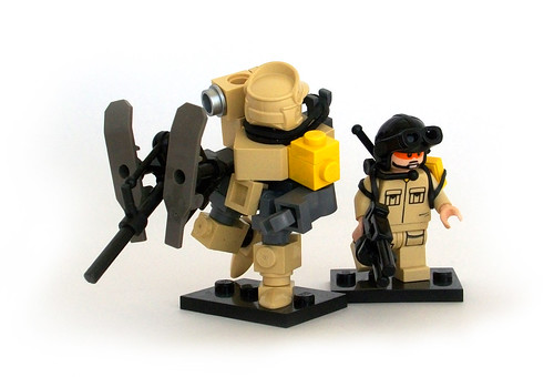 Desert Juggernaut Powersuit and Operator