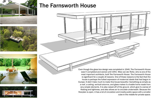 Farnsworth house plans house design plans for The glass house plan