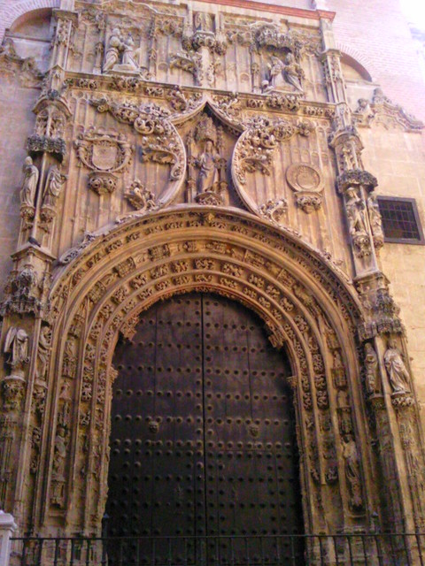 Malaga cathedral doorway