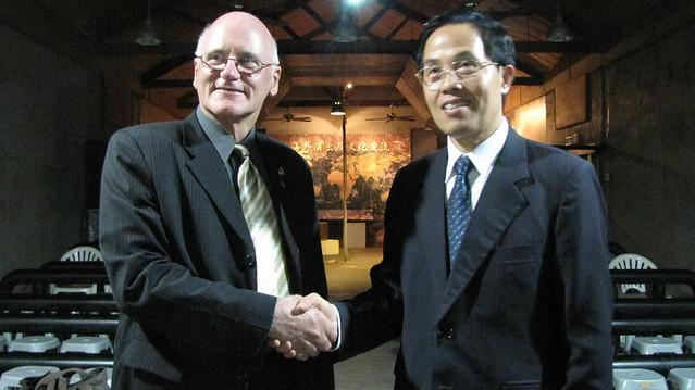 2010年5月份-金色山莊安排Hauraki市長拜會台南市教育處王處長