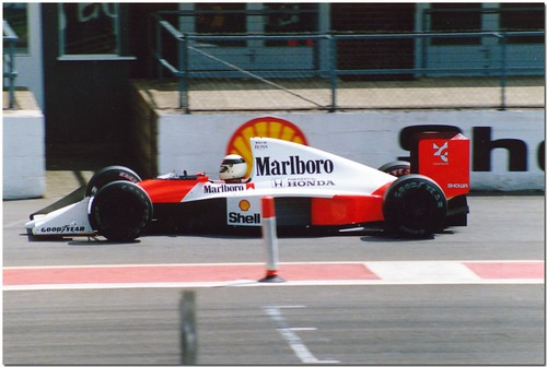 Allan McNish Mclaren Honda MP4/5B F1.1990 British GP Test Silverstone