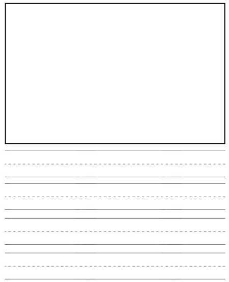 kindergarten writing paper with lines