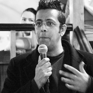 Simon Singh speaking in Westminster, London