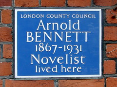 Photo of Arnold Bennett blue plaque