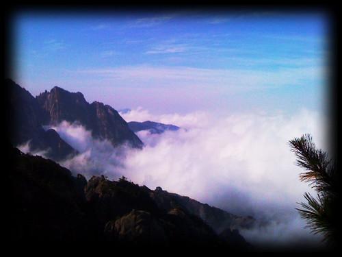 china mountains beautiful beauty clouds huangshan
