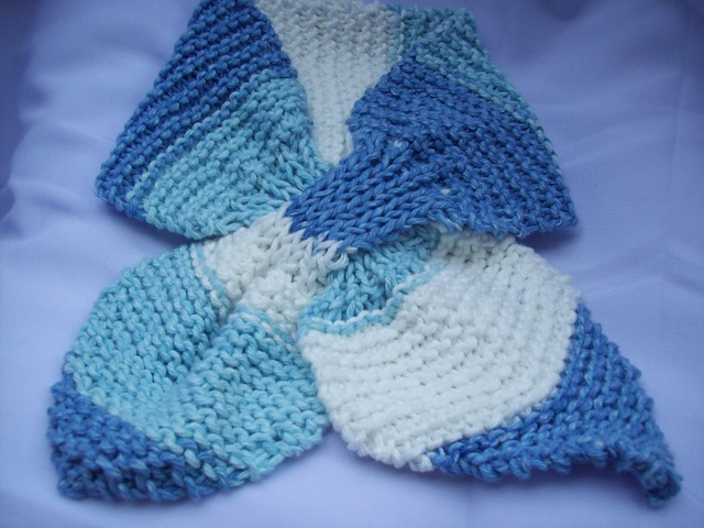 Free Knitting Pattern For Bow Knot Scarf : Knitted bow knot scarf in self-striping cotton Flickr - Photo Sharing!