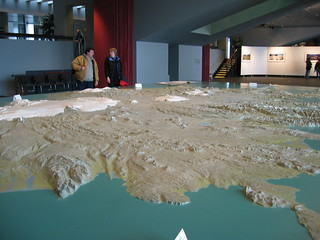 Relief map of Iceland