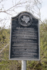 Photo of Isaac Kountz and Sebastian Kountz black plaque