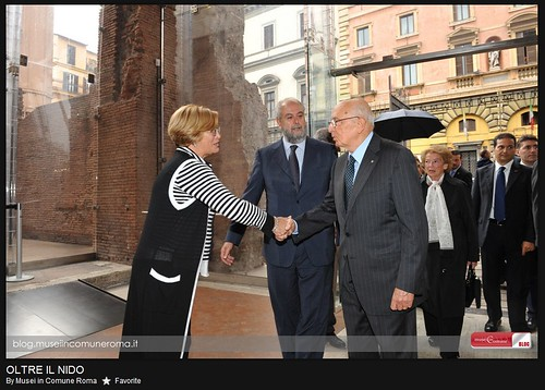 Rome - The Museum of the Imperial Fora: [L. to R.] Dr. Lucrezia Ungario - Director of the Museum, Umberto Croppi - City of Rome's Council Member for Cultural Policy, and the Hon. Dr. Giorgio Napolitano - President of the Italian Republic (Oct. 4th, 2010).