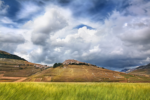 'Field's of Umbria,' Italy, Apennine Mountains, Umbria Castelluccio di Norcia