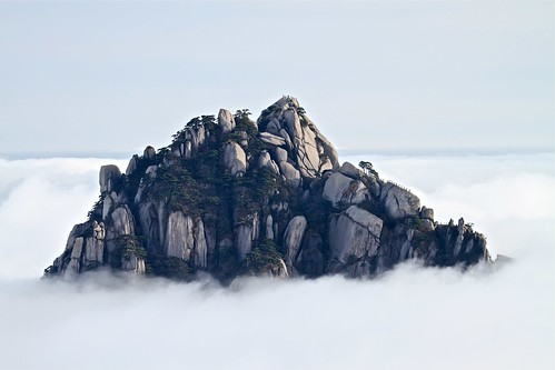 Mt. HuangShan黄山  Peaking out of the clouds...
