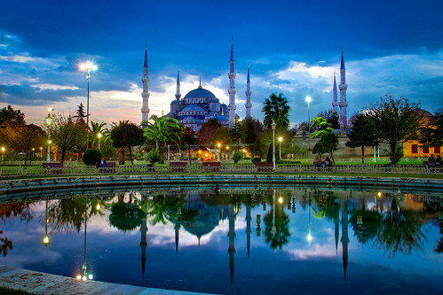 The Blue Mosque at dusk