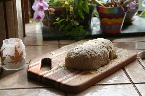 Pumpkin Rye Bread Rising