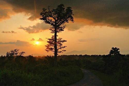 pink sunset hills ghana volta hohoe paulinuk99999