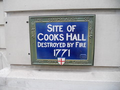 Photo of Cooks Hall blue plaque