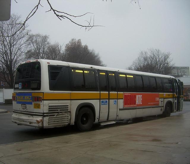 MBTA TMC RTS Bus 8909 At Reservoir Station