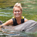 Survivor Winner Natalie White with Dexter at Discovery Cove in Orlando
