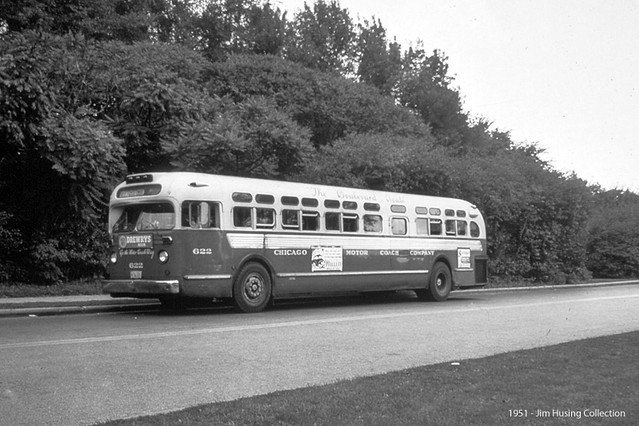 Historic Photo Chicago Motor Coach Company 1951 General Motors Transit Bus At An Unknown