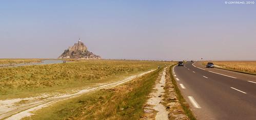 Acceso a Mont Saint Michel (Normandía, Francia) (191 mil visitas)